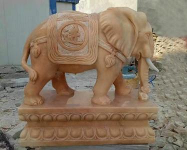 河南石雕大象